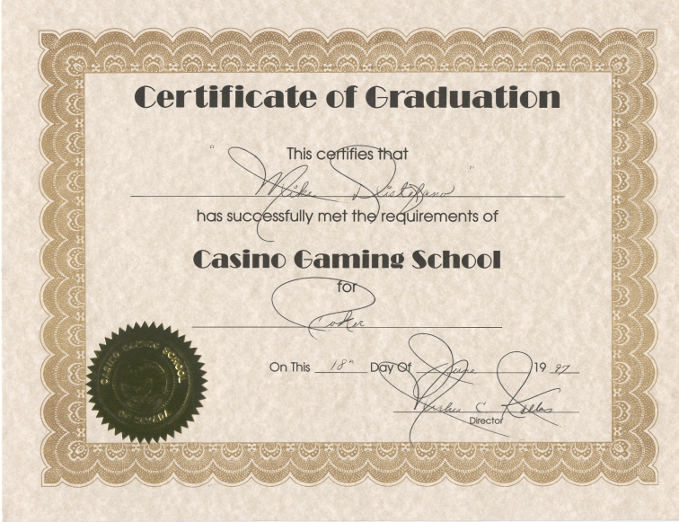 Casino dealer certification goldstrike hotel and casino