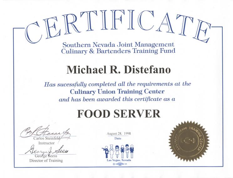 Culinary Arts Certificate